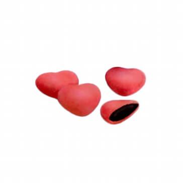 """Schokodragees """"Herz"""", 1kg, rot"""