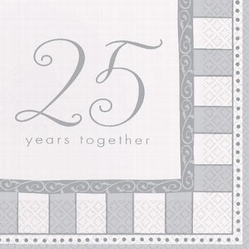 """Serviette """"25"""""""