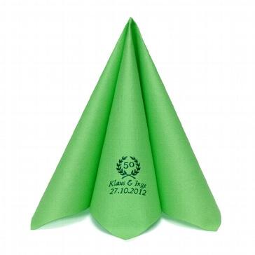 Serviette Airlaid Dinner Apfelgrün personalisiert
