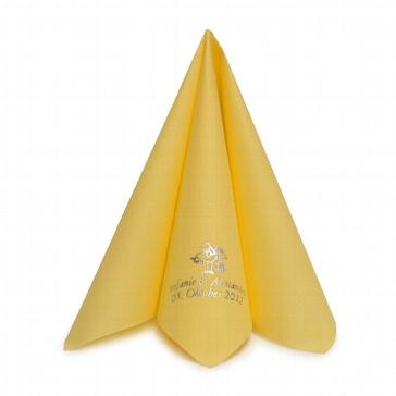 Serviette Airlaid Dinner gelb personalisiert