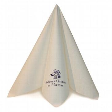 Serviette Airlaid Dinner Weiß personalisiert