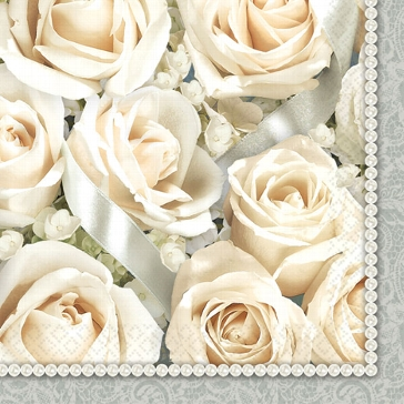 "Serviette ""Rose, klassisch"""