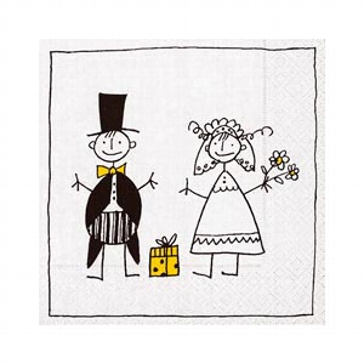 "Serviette ""Just Married"""