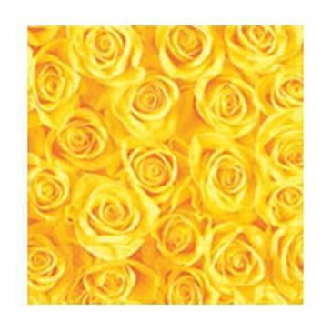 """Serviette """"Rose"""", gelb"""