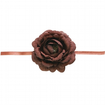 """Serviettenband """"Blume"""" in Braun"""