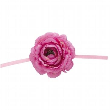 "Serviettenband ""Blume"" in Fuchsia"
