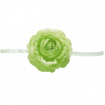 """Serviettenband """"Blume"""" in Grün"""