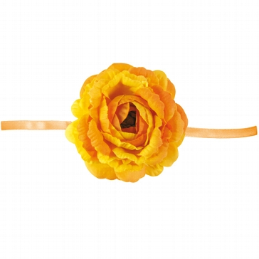 "Serviettenband ""Blume"" in Orange"
