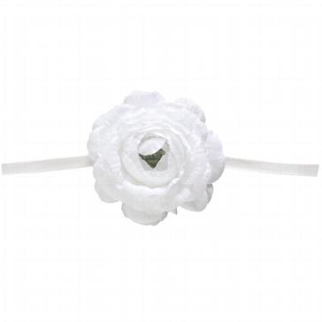 """Serviettenband """"Blume"""" in Weiß"""