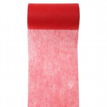 Rotes Tischband aus Vlies zur Hochzeitsdekoration