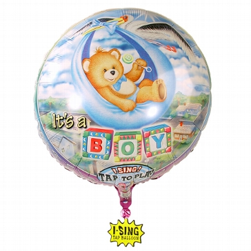 "Singing Ballon ""It´s a boy"""