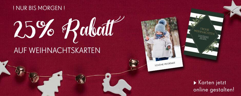 25% Rabatt auf Weihnachtskarten