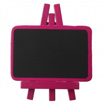 Beschriftbare Tafel in Pink für die Tischdeko zur Hochzeit
