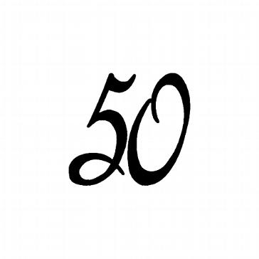 """Stempel """"50"""" für die Goldene Hochzeit"""