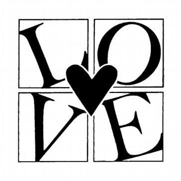 """Stempel """"Love"""" für Ihre Hochzeitskarten uva"""