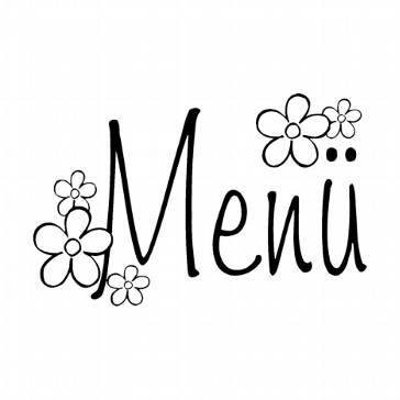"""Stempel """"Menü Blume"""" - für Menükarten"""