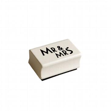 Stempel Mr & Mrs kreative Hochzeitsideen