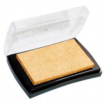 """Stempelkissen """"Pigment"""" gold - für Embossing"""