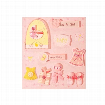 "Sticker 3D ""Baby Rosa Girl"""