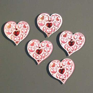 """Sticker 3D """"Herzen rosa"""""""