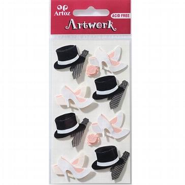 """Motiv-Sticker zur Hochzeit von Artoz """"Zylinder und Schuhe"""""""