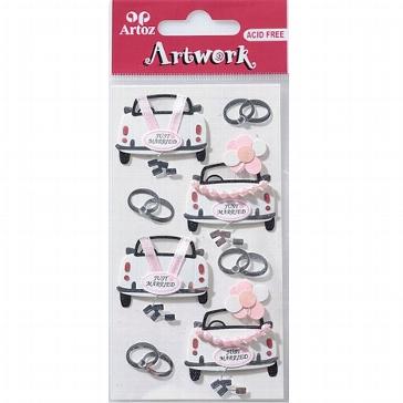 """Motiv-Sticker für die Hochzeit von Artoz """"Hochzeitsauto"""""""