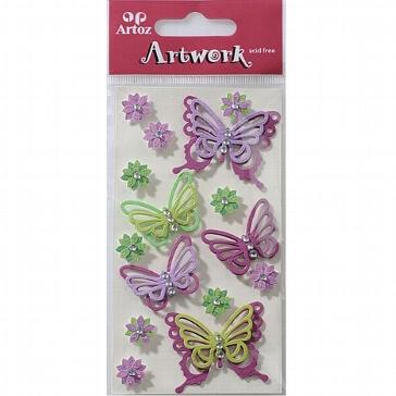 Motiv-Sticker von Artoz lila Schmetterlinge