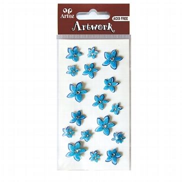 "Sticker ""Artwork Zarte Blumen"" blau"