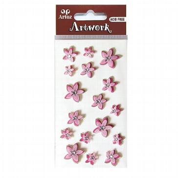 """Sticker """"Artwork Zarte Blumen"""" rosa"""