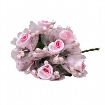 Stoffblume Rosa
