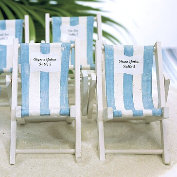 Platzkartenhalter Strandstuhl