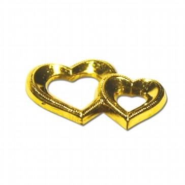Streudeko Doppelherz, gold