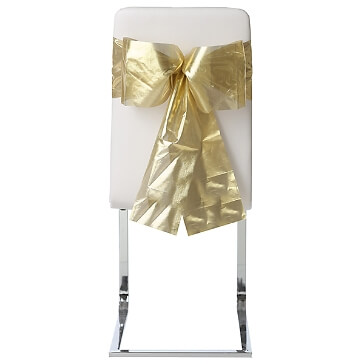 Stuhlschleifen Organza, gold