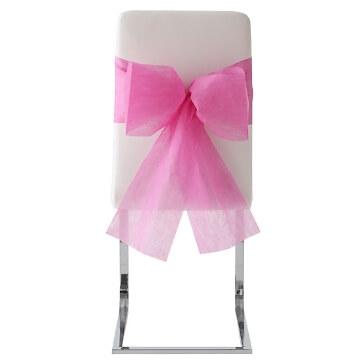 Stuhlschleifen Vlies, fuchsia, 10 St. - Stuhlschleifen zur Hochzeit