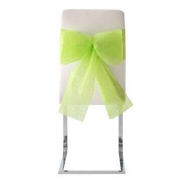 Bunte Stuhlschleifen für Ihre Hochzeit - Stuhlschleife in grün zur Hochzeit
