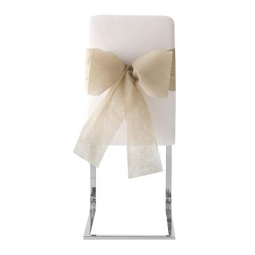 """Stuhlschleifen """"Vlies"""", taupe, 10 St. - elegante Stuhlschleifen zur Hochzeit"""