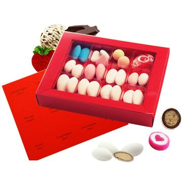 Probierschachtel mit verschiedenen Süßigkeiten