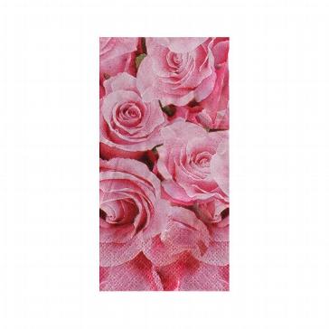 Taschentücher mit Rosenmotiv