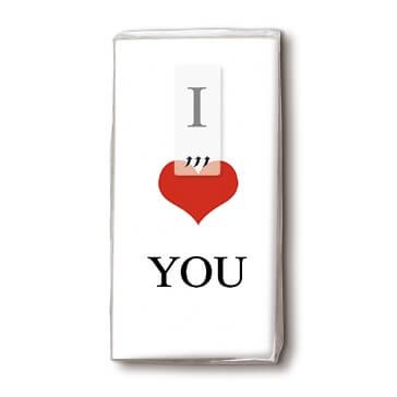 Taschentücher I Love You