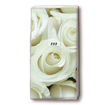 Taschentücher Weiße Rosen, 10 St.