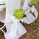 Stuhlhussen in Fuchsia aus Vlies-Stoff - Dekobeispiel