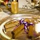 Hochzeitszigarren mit lila Banderole