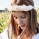 Brautschmuck Blumenkranz am Model von vorne