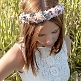 Blumenkranz Taubenblau Rose Model