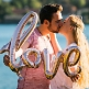 folienballon love rosegold kuss