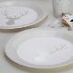 Pappteller in Silber Weiß
