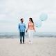 Luftballons rund, pastell-blau