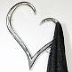 Garderobe in Herzform, silber