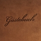 Gaestebuch Indiana braun gross Detailansicht