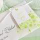 Hochzeitseinladung Tamara weiß-grün Detail 1